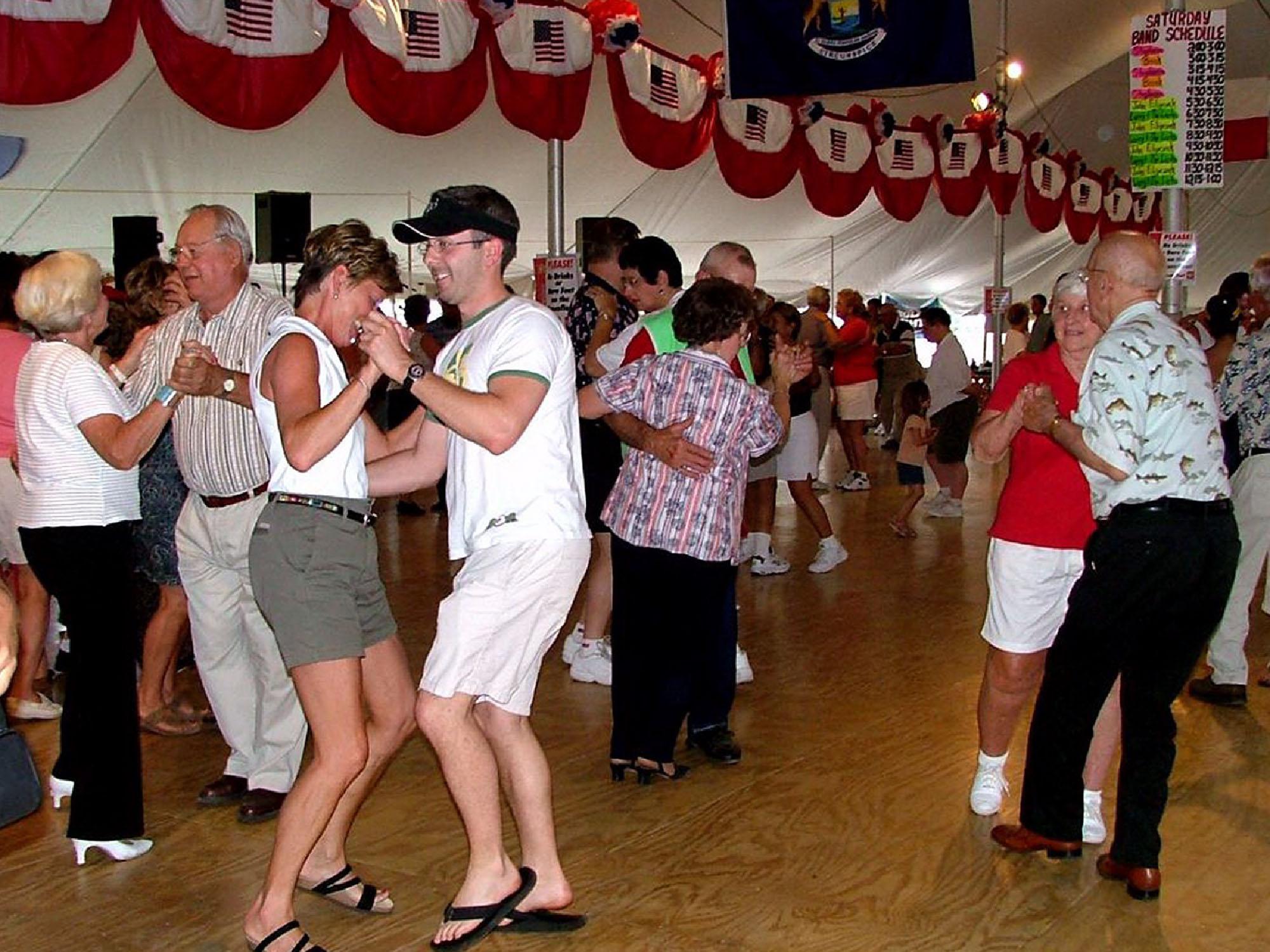 Cedar Polka Fest Dancing