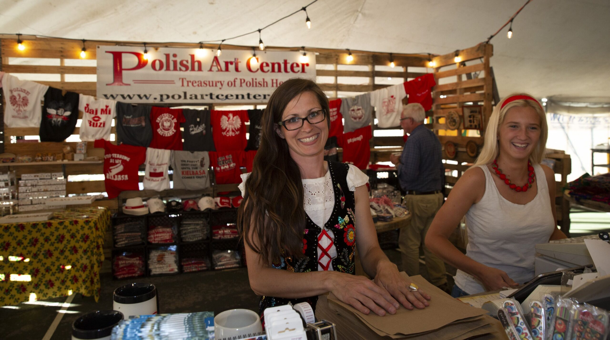 Polish Art Center Booth at Polka Festival